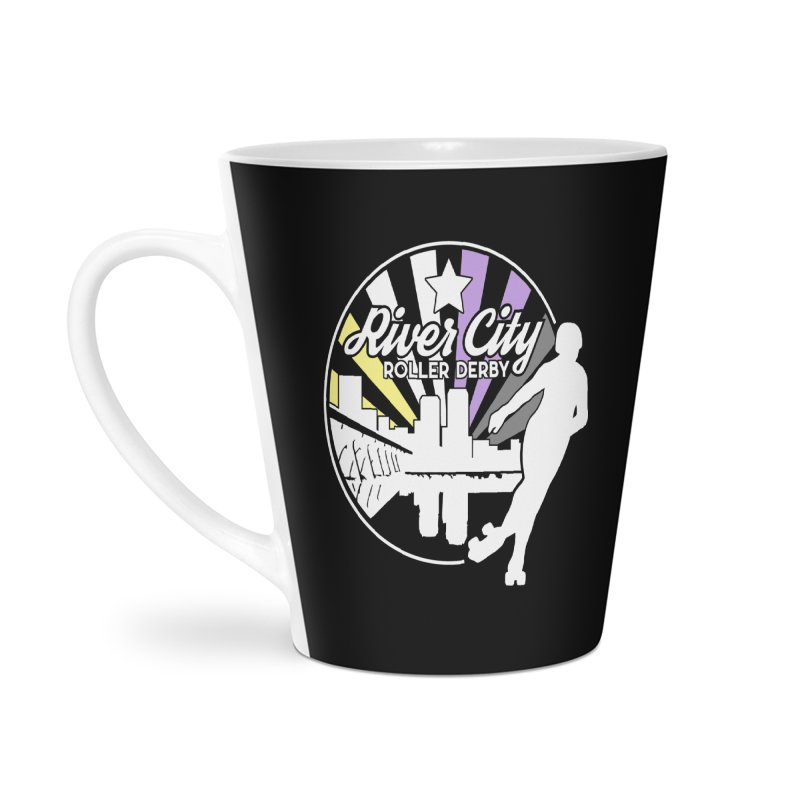 2019 Nonbinary Pride (alt) Accessories Latte Mug by River City Roller Derby's Artist Shop