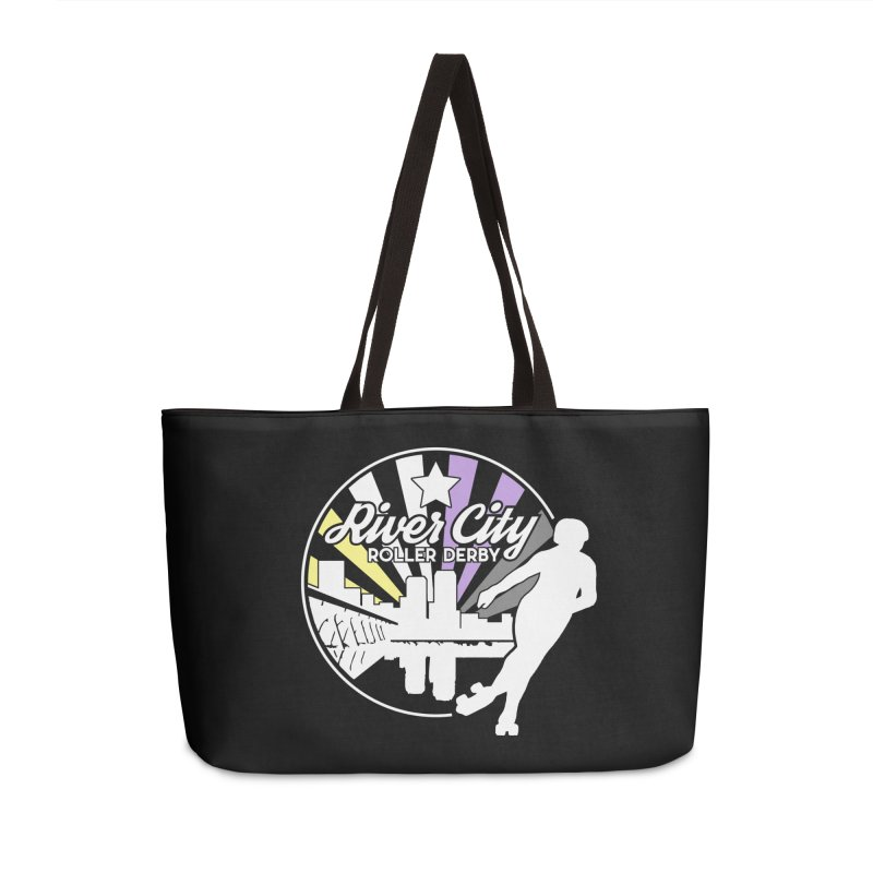2019 Nonbinary Pride (alt) Accessories Weekender Bag Bag by River City Roller Derby's Artist Shop