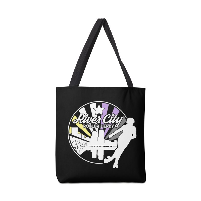 2019 Nonbinary Pride (alt) Accessories Tote Bag Bag by River City Roller Derby's Artist Shop