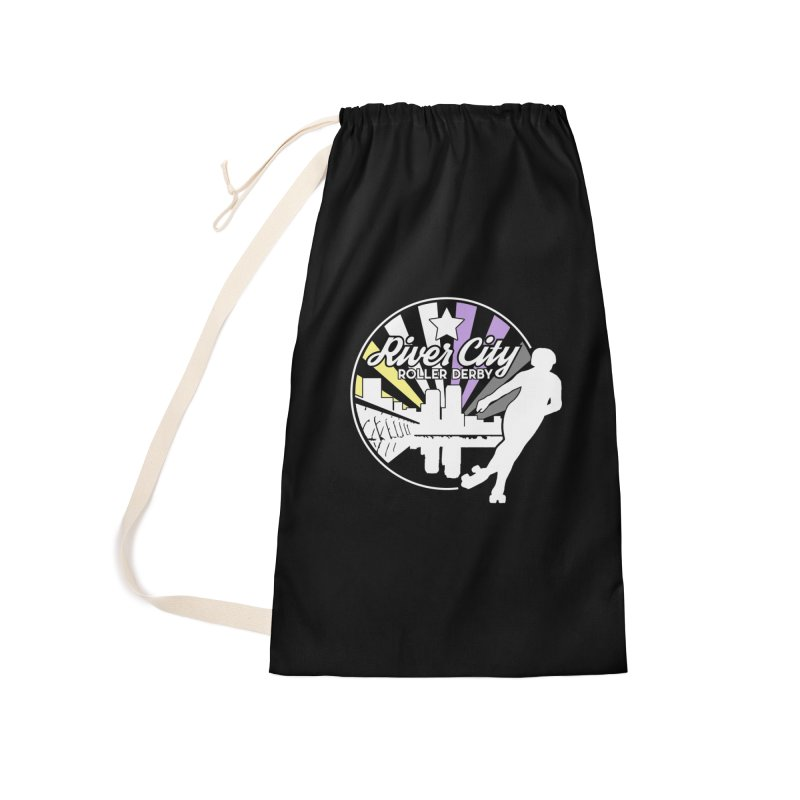 2019 Nonbinary Pride (alt) Accessories Laundry Bag Bag by River City Roller Derby's Artist Shop