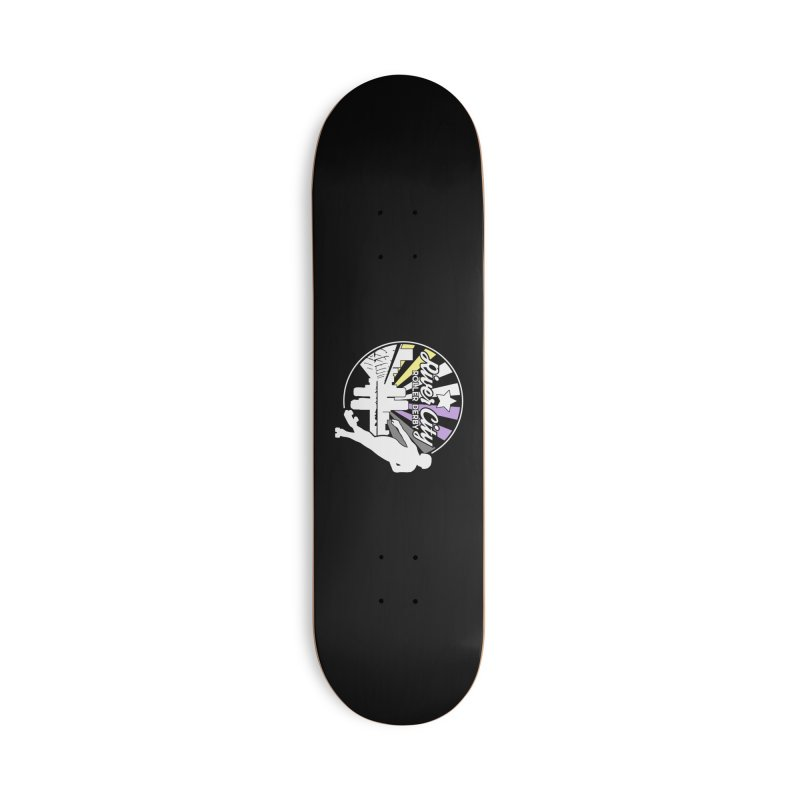 2019 Nonbinary Pride (alt) Accessories Deck Only Skateboard by River City Roller Derby's Artist Shop