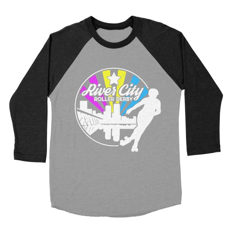 2019 Pansexual Pride (alt) Women's Baseball Triblend Longsleeve T-Shirt by River City Roller Derby's Artist Shop