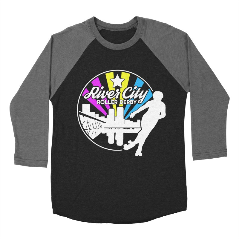 2019 Pansexual Pride (alt) Men's Baseball Triblend Longsleeve T-Shirt by River City Roller Derby's Artist Shop