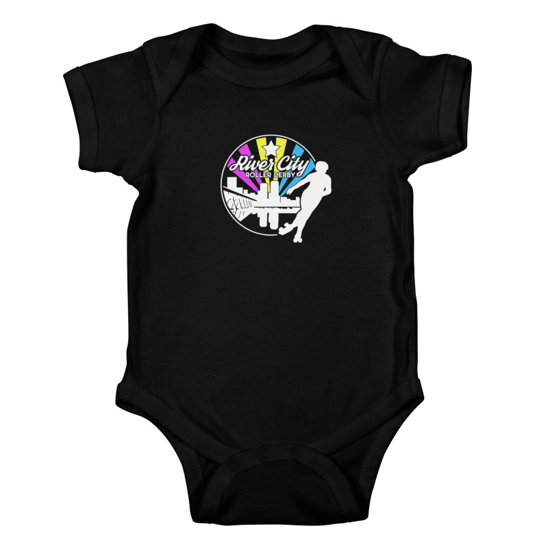 2019 Pansexual Pride (alt) Kids Baby Bodysuit by River City Roller Derby's Artist Shop