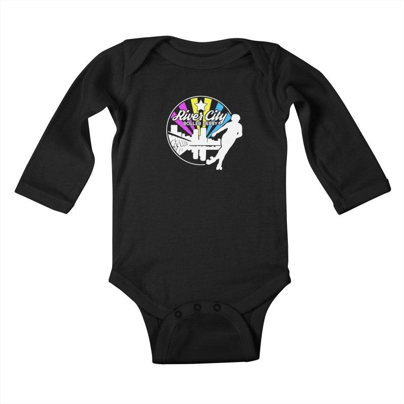 2019 Pansexual Pride (alt) Kids Baby Longsleeve Bodysuit by River City Roller Derby's Artist Shop