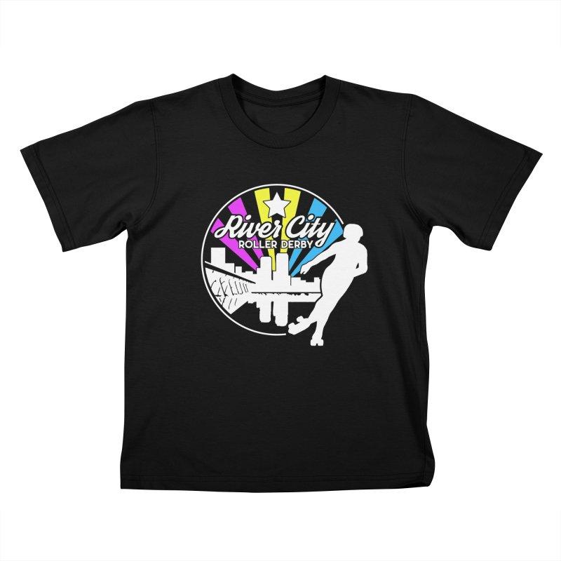 2019 Pansexual Pride (alt) Kids T-Shirt by River City Roller Derby's Artist Shop