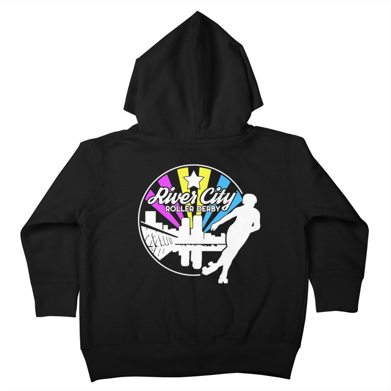 2019 Pansexual Pride (alt) Kids Toddler Zip-Up Hoody by River City Roller Derby's Artist Shop