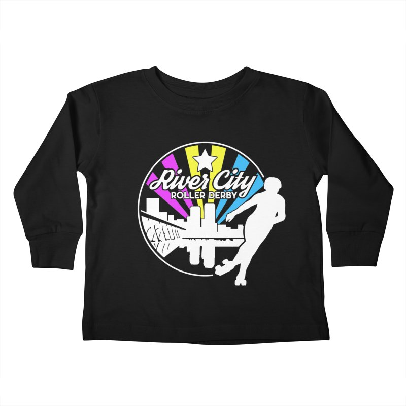 2019 Pansexual Pride (alt) Kids Toddler Longsleeve T-Shirt by River City Roller Derby's Artist Shop
