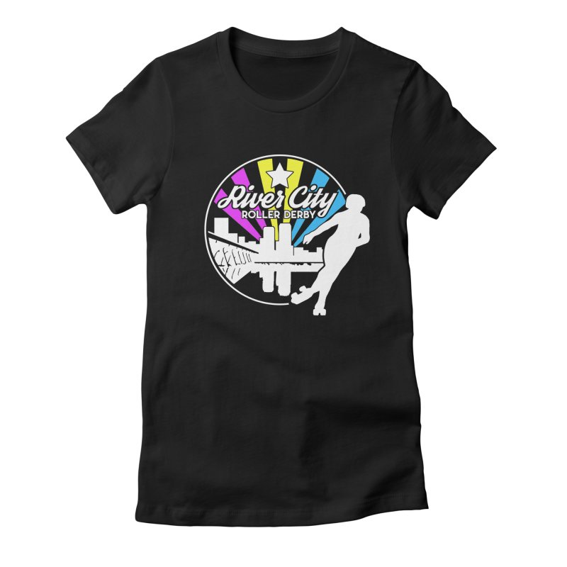 2019 Pansexual Pride (alt) Women's Fitted T-Shirt by River City Roller Derby's Artist Shop