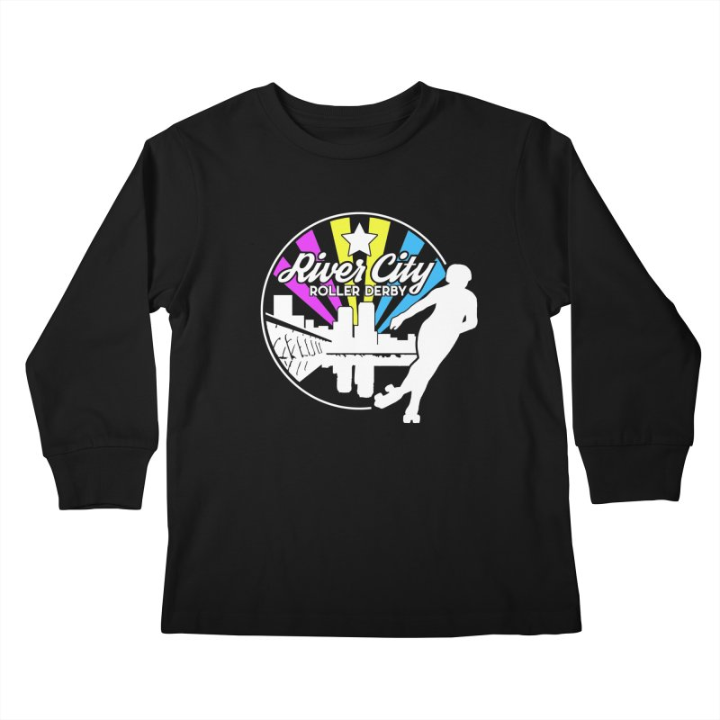 2019 Pansexual Pride (alt) Kids Longsleeve T-Shirt by River City Roller Derby's Artist Shop