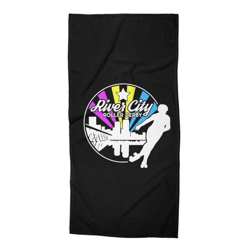 2019 Pansexual Pride (alt) Accessories Beach Towel by River City Roller Derby's Artist Shop