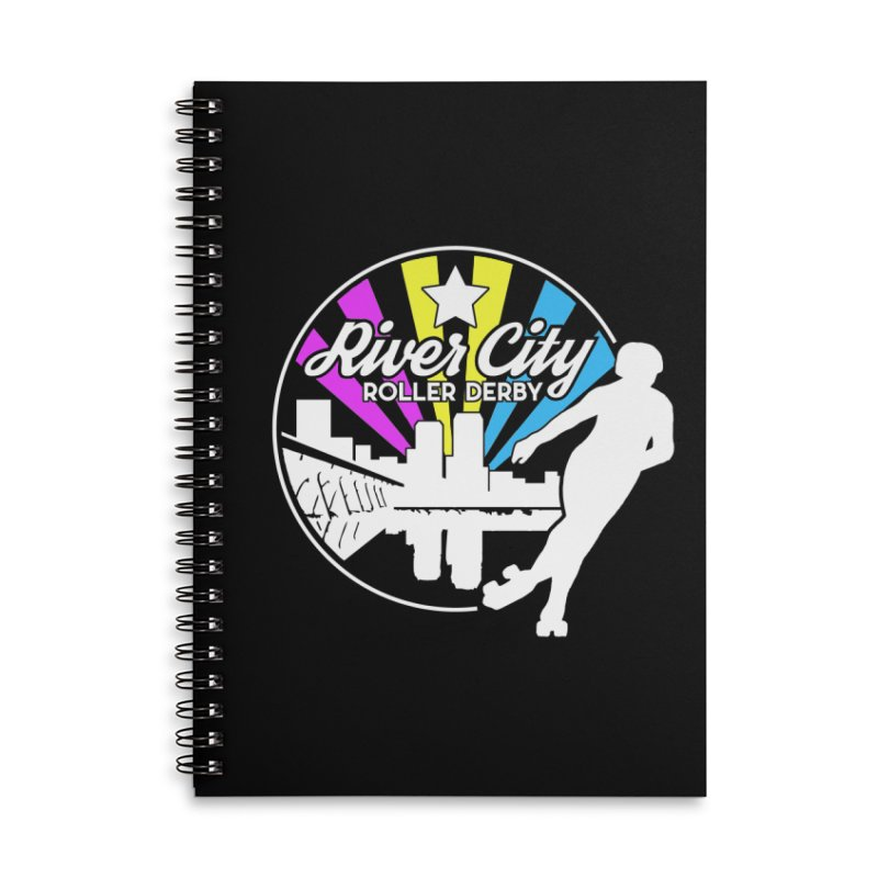 2019 Pansexual Pride (alt) Accessories Lined Spiral Notebook by River City Roller Derby's Artist Shop