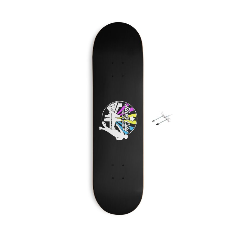 2019 Pansexual Pride (alt) Accessories With Hanging Hardware Skateboard by River City Roller Derby's Artist Shop