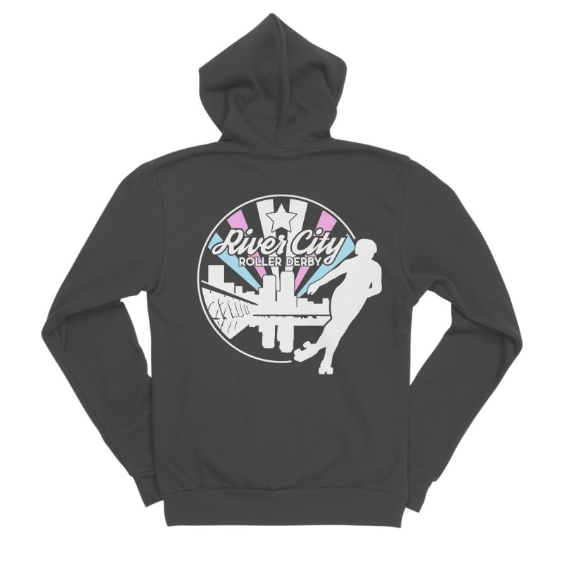 2019 Trans Pride (alt) Men's Sponge Fleece Zip-Up Hoody by River City Roller Derby's Artist Shop