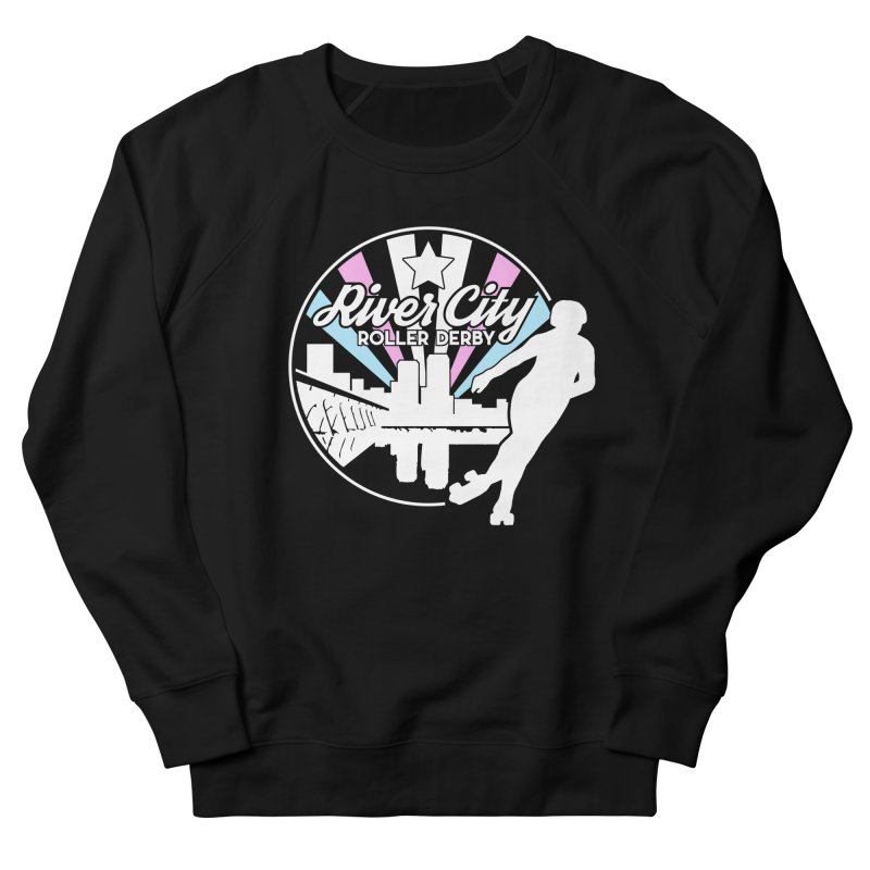 2019 Trans Pride (alt) Men's French Terry Sweatshirt by River City Roller Derby's Artist Shop
