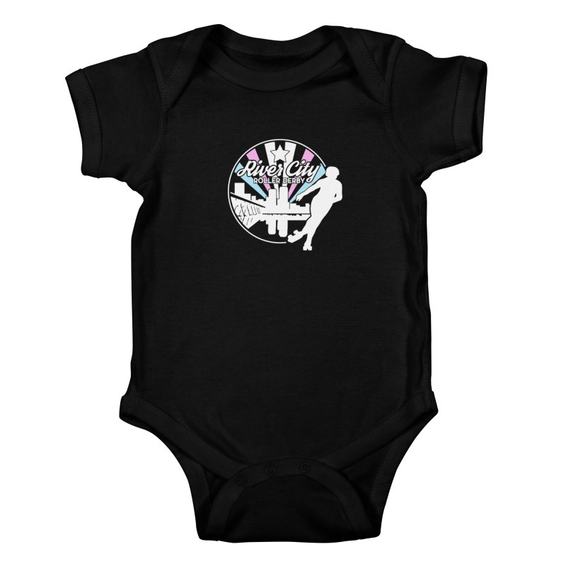 2019 Trans Pride (alt) Kids Baby Bodysuit by River City Roller Derby's Artist Shop
