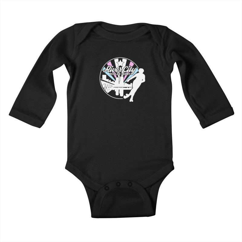 2019 Trans Pride (alt) Kids Baby Longsleeve Bodysuit by River City Roller Derby's Artist Shop