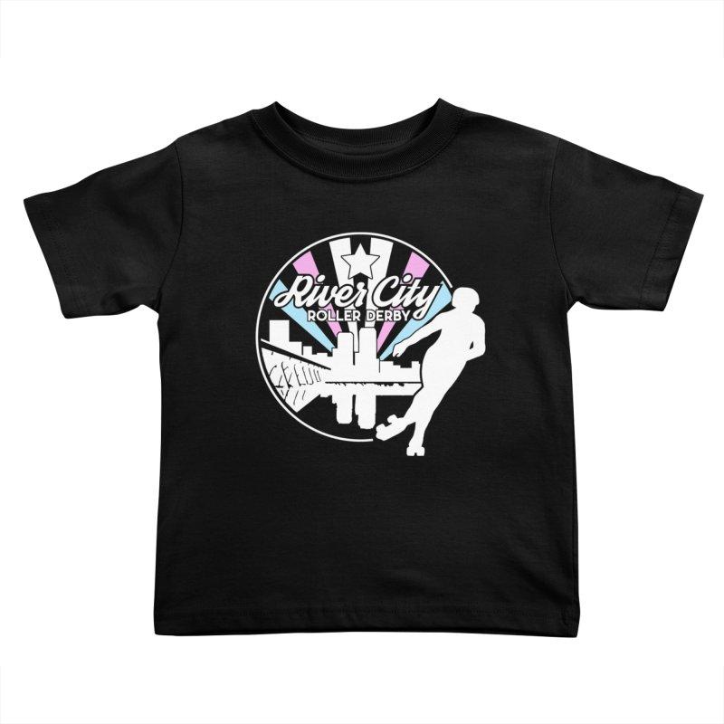 2019 Trans Pride (alt) Kids Toddler T-Shirt by River City Roller Derby's Artist Shop