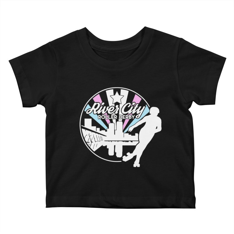 2019 Trans Pride (alt) Kids Baby T-Shirt by River City Roller Derby's Artist Shop