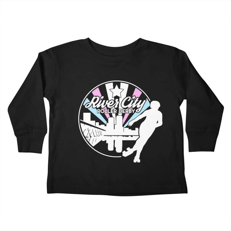 2019 Trans Pride (alt) Kids Toddler Longsleeve T-Shirt by River City Roller Derby's Artist Shop