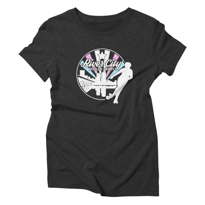2019 Trans Pride (alt) Women's Triblend T-Shirt by River City Roller Derby's Artist Shop