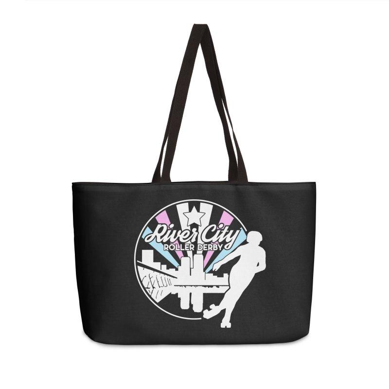 2019 Trans Pride (alt) Accessories Weekender Bag Bag by River City Roller Derby's Artist Shop