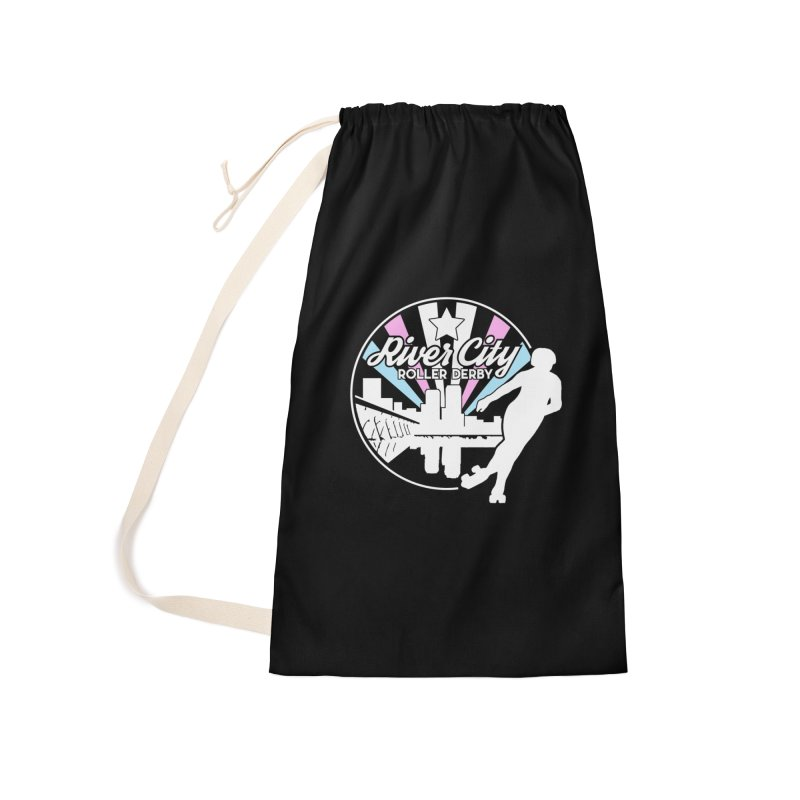 2019 Trans Pride (alt) Accessories Laundry Bag Bag by River City Roller Derby's Artist Shop