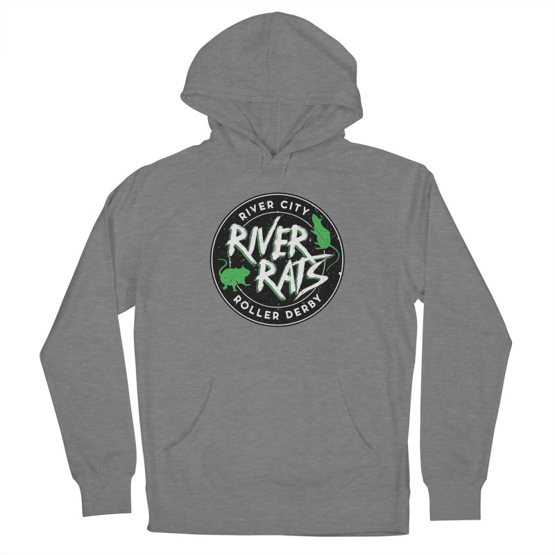 RCRD River Rats Men's French Terry Pullover Hoody by River City Roller Derby's Artist Shop