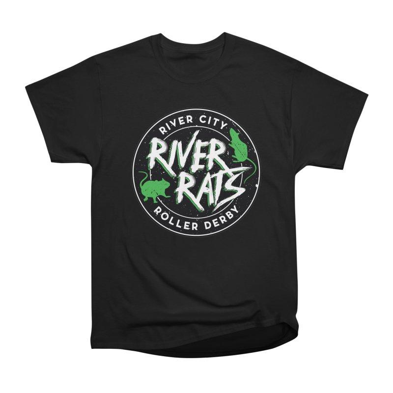 RCRD River Rats Men's Heavyweight T-Shirt by River City Roller Derby's Artist Shop