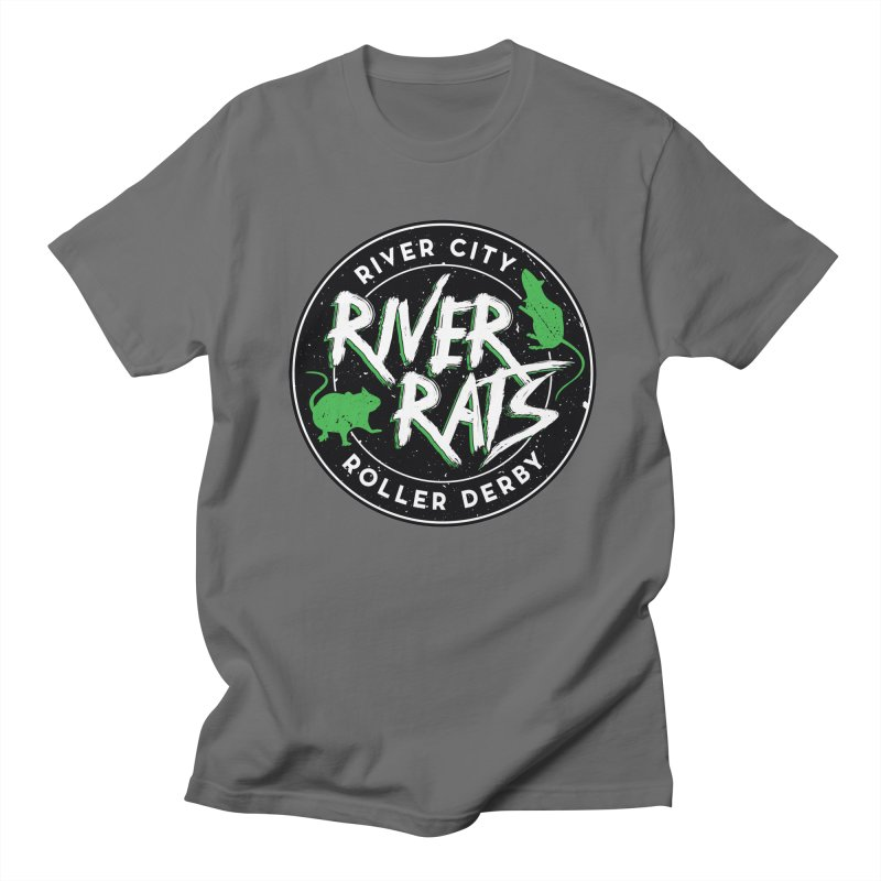 RCRD River Rats Men's T-Shirt by River City Roller Derby's Artist Shop