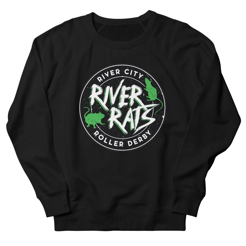 RCRD River Rats Men's French Terry Sweatshirt by River City Roller Derby's Artist Shop