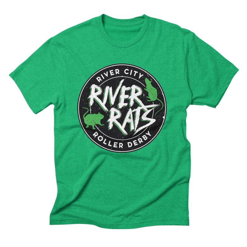RCRD River Rats Men's Triblend T-Shirt by River City Roller Derby's Artist Shop