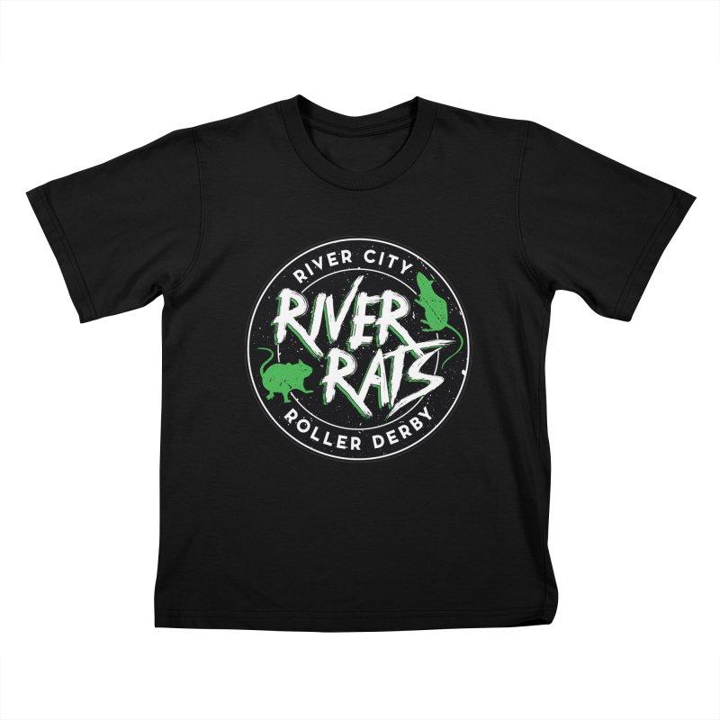 RCRD River Rats Kids T-Shirt by River City Roller Derby's Artist Shop