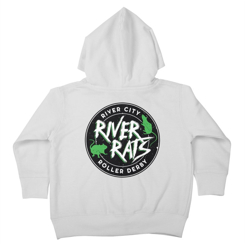 RCRD River Rats Kids Toddler Zip-Up Hoody by River City Roller Derby's Artist Shop