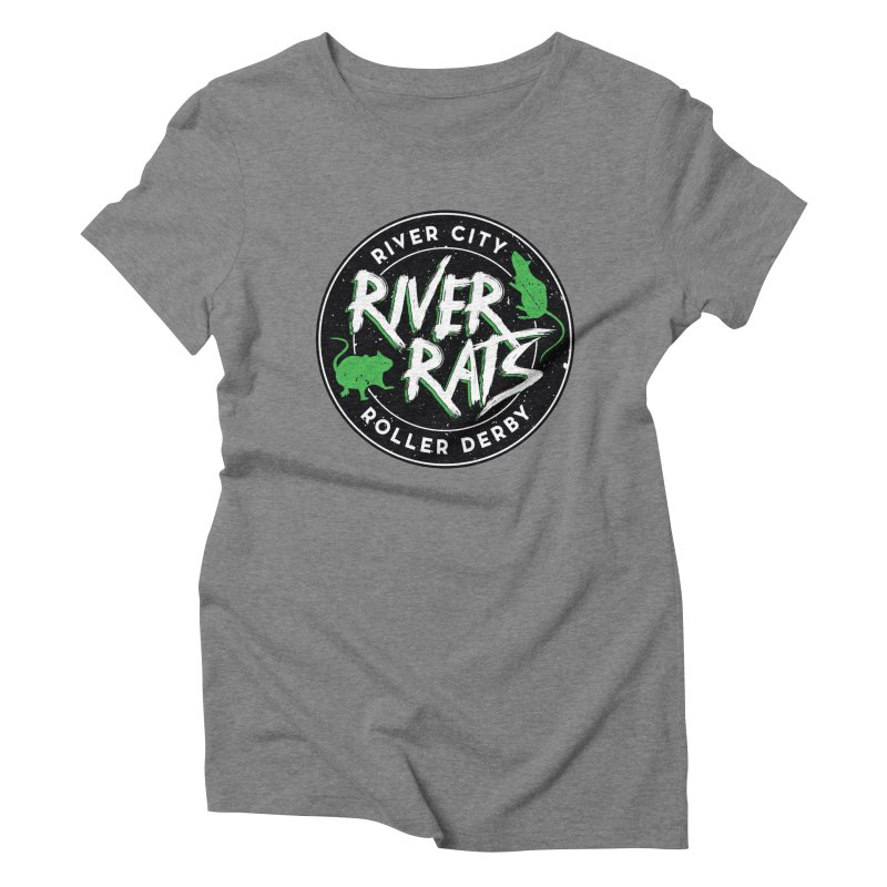 RCRD River Rats Women's Triblend T-Shirt by River City Roller Derby's Artist Shop