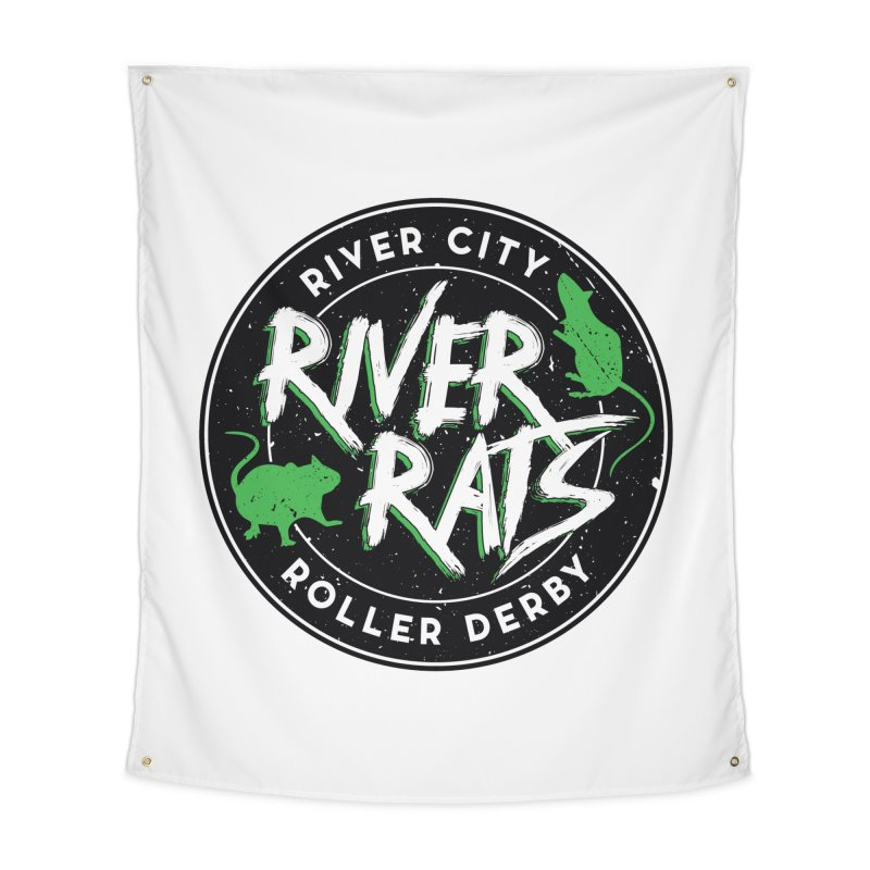 RCRD River Rats Home Tapestry by River City Roller Derby's Artist Shop