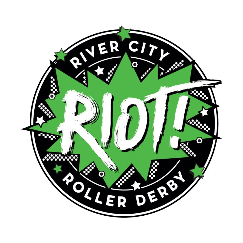RCRD Riot! Men's Pullover Hoody by River City Roller Derby's Artist Shop