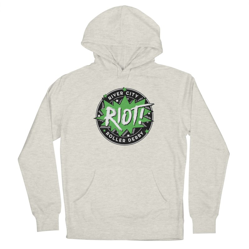 RCRD Riot! Men's French Terry Pullover Hoody by River City Roller Derby's Artist Shop