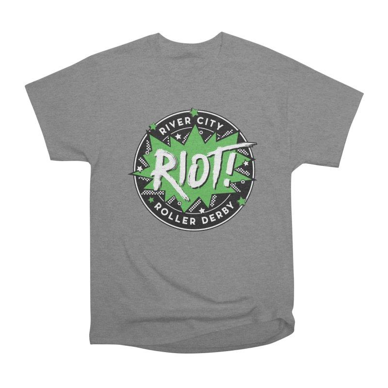 RCRD Riot! Men's Heavyweight T-Shirt by River City Roller Derby's Artist Shop