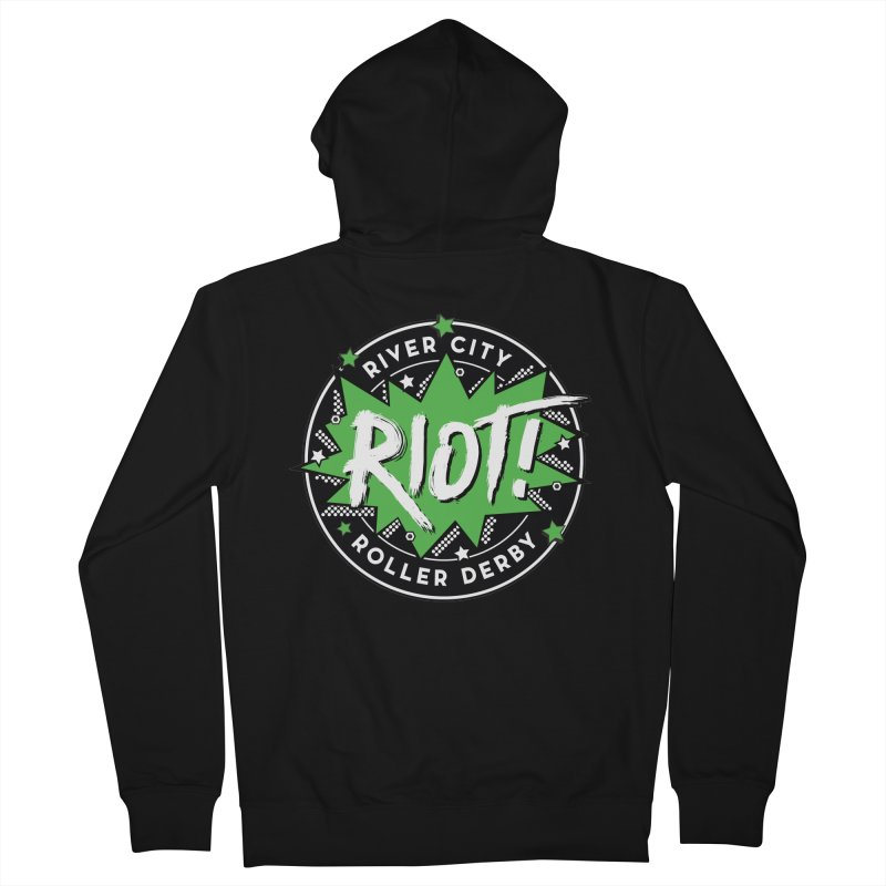 RCRD Riot! Women's French Terry Zip-Up Hoody by River City Roller Derby's Artist Shop