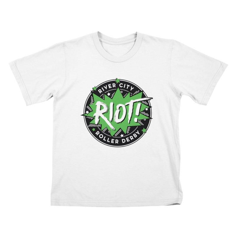 RCRD Riot! Kids T-Shirt by River City Roller Derby's Artist Shop
