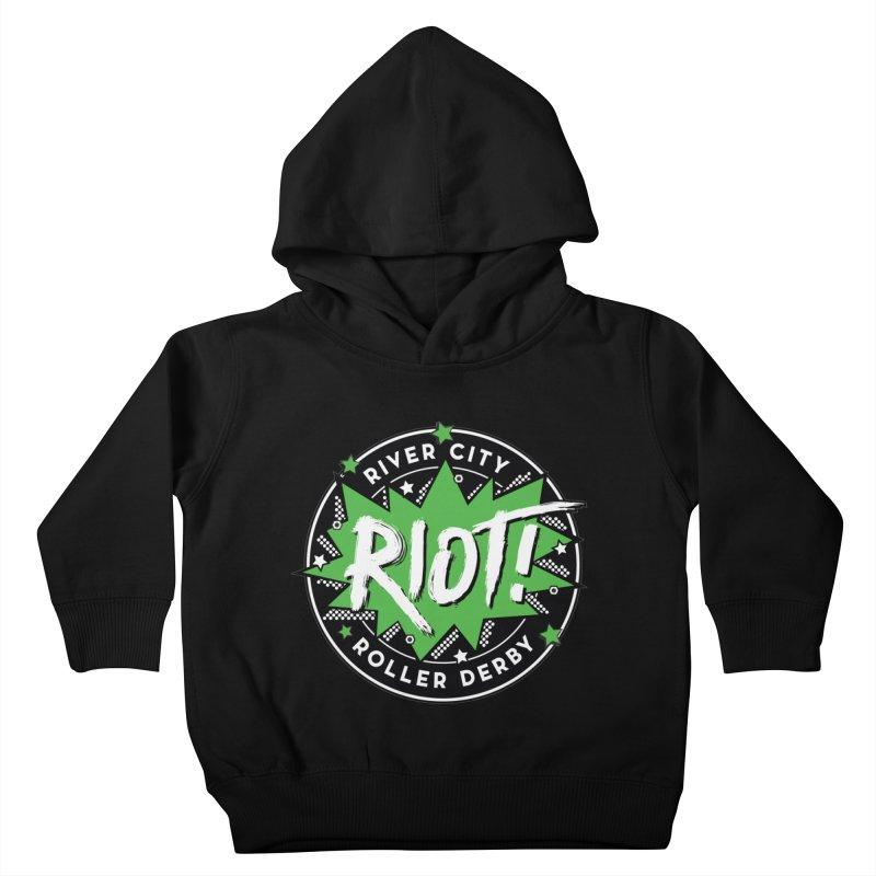 RCRD Riot! Kids Toddler Pullover Hoody by River City Roller Derby's Artist Shop