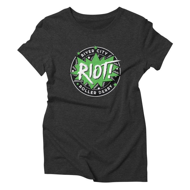 RCRD Riot! Women's Triblend T-Shirt by River City Roller Derby's Artist Shop