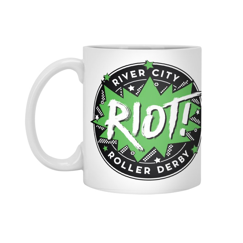 RCRD Riot! Accessories Standard Mug by River City Roller Derby's Artist Shop