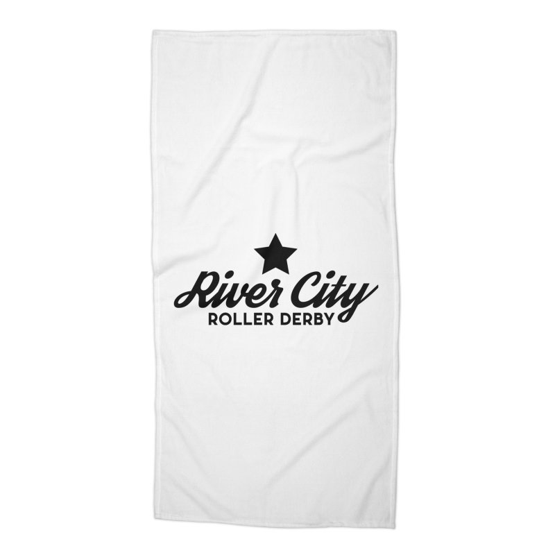 River City Roller Derby Accessories Beach Towel by RiverCityRollerDerby's Artist Shop