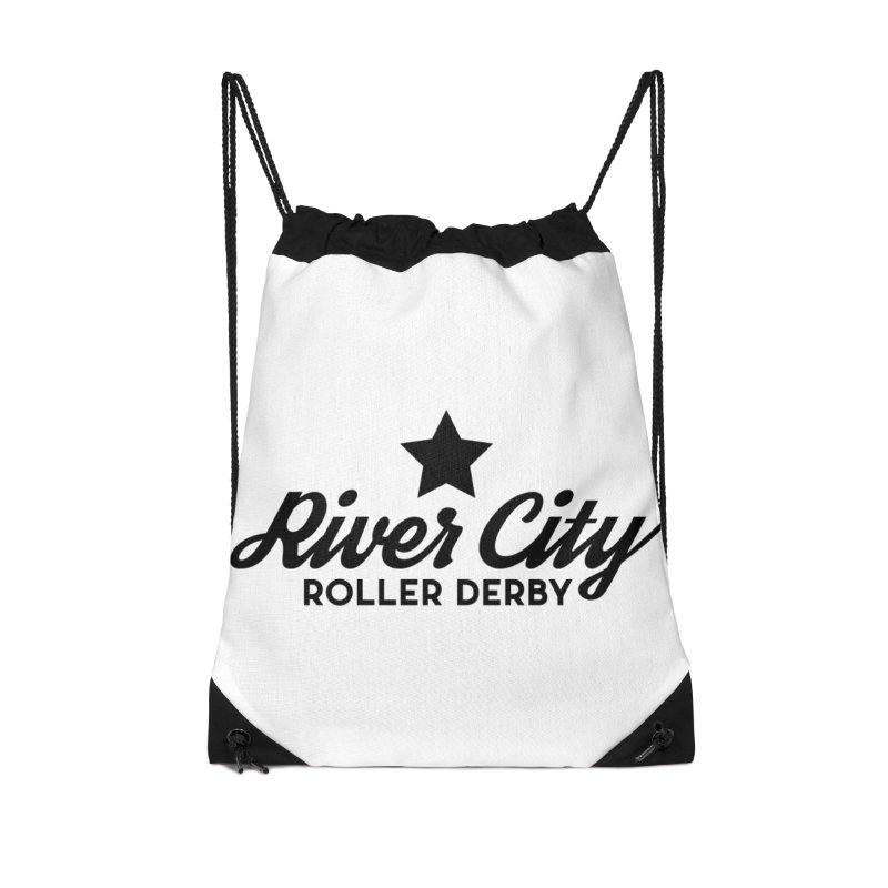 River City Roller Derby Accessories Drawstring Bag Bag by River City Roller Derby's Artist Shop