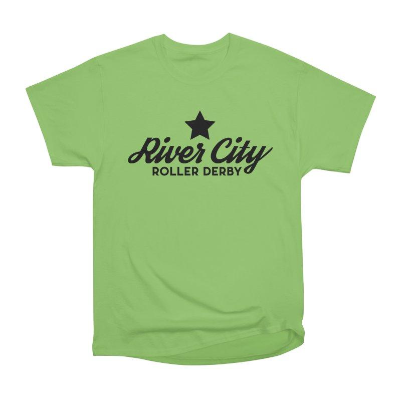 River City Roller Derby Women's Heavyweight Unisex T-Shirt by RiverCityRollerDerby's Artist Shop