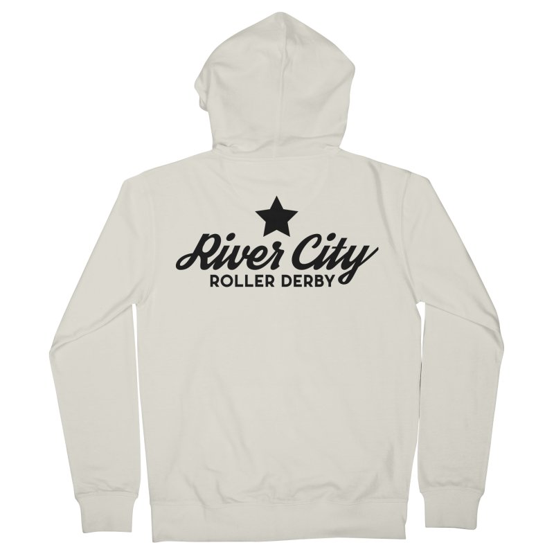 River City Roller Derby Men's French Terry Zip-Up Hoody by River City Roller Derby's Artist Shop