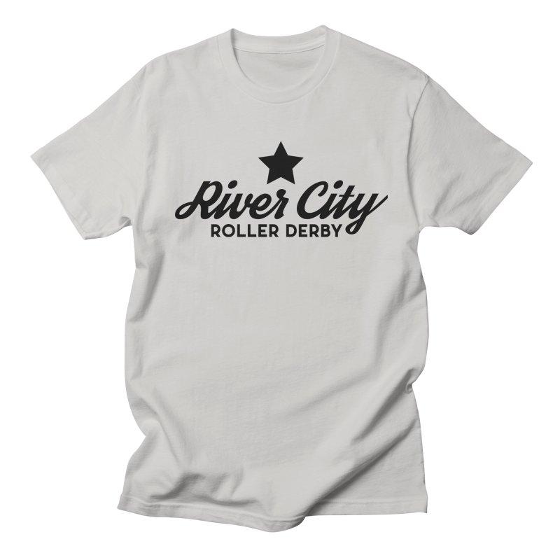River City Roller Derby Men's Regular T-Shirt by RiverCityRollerDerby's Artist Shop