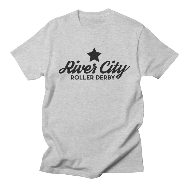 River City Roller Derby Men's Regular T-Shirt by RiverCityRollerDerby's Artist Shop